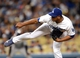 Sep 27, 2013; Los Angeles, CA, USA; Los Angeles Dodgers relief pitcher Carlos Marmol (49) during the game against the Colorado Rockies at Dodger Stadium. Dodgers won 11-0. Mandatory Credit: Jayne Kamin-Oncea-USA TODAY Sports