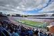 Sep 28, 2013; Chapel Hill, NC, USA; A general view of  Kenan Memorial Stadium during a game between the East Carolina Pirates and North Carolina Tarheels. Mandatory Credit: Rob Kinnan-USA TODAY Sports