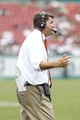 Sep 28, 2013; Tampa, FL, USA; Miami Hurricanes head coach Al Golden during the second half against the South Florida Bulls at Raymond James Stadium. Miami Hurricanes defeated the South Florida Bulls 49-21. Mandatory Credit: Kim Klement-USA TODAY Sports