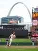 Sep 28, 2013; St. Louis, MO, USA; St. Louis Cardinals left fielder Matt Holliday (7) runs the bases after hitting a two run home run off of Chicago Cubs starting pitcher Edwin Jackson (not pictured) during the first inning at Busch Stadium. Mandatory Credit: Jeff Curry-USA TODAY Sports