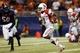 Sep 28, 2013; San Antonio, TX, USA; Houston Cougars quarterback Greg Ward Jr. (1) scores on a 6-yard touchdown run during the first half against the Texas-San Antonio Roadrunners at Alamodome. Mandatory Credit: Soobum Im-USA TODAY Sports