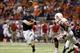 Sep 28, 2013; San Antonio, TX, USA; Texas-San Antonio Roadrunners quarterback Eric Soza (8) throws a touchdown pass during the first half against the Houston Cougars at Alamodome. Mandatory Credit: Soobum Im-USA TODAY Sports