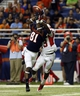 Sep 28, 2013; San Antonio, TX, USA; Texas-San Antonio Roadrunners wide receiver Kenny Bias (81) is unable to catch a pass while defended by Houston Cougars defensive back Thomas Bates (13) during the first half at Alamodome. Mandatory Credit: Soobum Im-USA TODAY Sports