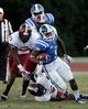 Sep 28, 2013; Durham, NC, USA;  Duke Blue Devils running back Josh Snead (9) runs the ball against the Troy Trojans at Wallace Wade Stadium. Mandatory Credit: Mark Dolejs-USA TODAY Sports