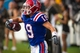 Sep 28, 2013; Dallas, TX, USA; Louisiana Tech Bulldogs wide receiver Andrew Guillot (19) celebrates his touchdown against the Army Black Knights during second quarter at the Cotton Bowl Stadium. Mandatory Credit: Jerome Miron-USA TODAY Sports