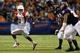 Sep 28, 2013; San Antonio, TX, USA; Houston Cougars quarterback Greg Ward Jr. (1) runs with the ball against the Texas-San Antonio Roadrunners during the second  half at Alamodome. Houston won 59 - 28. Mandatory Credit: Soobum Im-USA TODAY Sports