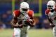 Sep 28, 2013; San Antonio, TX, USA; Houston Cougars linebacker Austin Wilson (43) runs with the ball against the Texas-San Antonio Roadrunners during the second  half at Alamodome. Houston won 59 - 28. Mandatory Credit: Soobum Im-USA TODAY Sports