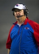 Sep 28, 2013; Dallas, TX, USA; Louisiana Tech Bulldogs head coach Skip Holtz watches his team take on the Army Black Knights during second half at the Cotton Bowl Stadium. The Black Knights defeated the Bulldogs 35-16. Mandatory Credit: Jerome Miron-USA TODAY Sports