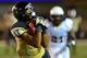 Sep 28, 2013; Nashville, TN, USA; Vanderbilt Commodores wide receiver Jonathan Krause (17) catches a pass against the Alabama-Birmingham Blazers during the first half at Vanderbilt Stadium. Mandatory Credit: Don McPeak-USA TODAY Sports