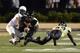 Sep 28, 2013; Nashville, TN, USA; Vanderbilt Commodores safety Kenny Ladler (1) intercepts a pass intended for Alabama-Birmingham Blazers Jamarcus Nelson (1) during the first half at Vanderbilt Stadium. Mandatory Credit: Don McPeak-USA TODAY Sports