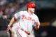 Sep 28, 2013; Atlanta, GA, USA; Philadelphia Phillies first baseman Darin Ruf (18) runs to third against the Atlanta Braves in the fifth inning at Turner Field. Mandatory Credit: Brett Davis-USA TODAY Sports