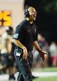Sep 28, 2013; Nashville, TN, USA; Vanderbilt Commodores head coach James Franklin directs his team against the Alabama-Birmingham Blazers during the first half at Vanderbilt Stadium. Mandatory Credit: Don McPeak-USA TODAY Sports