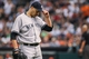 Sep 28, 2013; Houston, TX, USA; New York Yankees starting pitcher Andy Pettitte (46) walks off the mound after pitching during the sixth inning against the Houston Astros at Minute Maid Park. Mandatory Credit: Troy Taormina-USA TODAY Sports