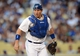 Sep 28, 2013; Los Angeles, CA, USA;   Los Angeles Dodgers catcher A.J. Ellis (17) during the game against the Colorado Rockies at Dodger Stadium. Mandatory Credit: Jayne Kamin-Oncea-USA TODAY Sports
