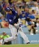 Sep 28, 2013; Los Angeles, CA, USA;   Colorado Rockies shortstop Troy Tulowitzki (2) at bat during the game against the Los Angeles Dodgers at Dodger Stadium. Mandatory Credit: Jayne Kamin-Oncea-USA TODAY Sports