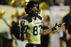Sep 28, 2013; Nashville, TN, USA; Vanderbilt Commodores wide receiver Jordan Matthews (87) celebrates after catching a touchdown pass against the Alabama-Birmingham Blazers during the second half at Vanderbilt Stadium. The Commodores beat the Blazers 52-24. Mandatory Credit: Don McPeak-USA TODAY Sports