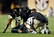 Sep 28, 2013; Nashville, TN, USA; Vanderbilt Commodores trainers attend to Commodores wide receiver Jonathan Krause (17) in a game against the Alabama-Birmingham Blazers during the second half at Vanderbilt Stadium. The Commodores beat the Blazers 52-24. Mandatory Credit: Don McPeak-USA TODAY Sports