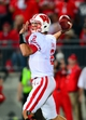 Sep 28, 2013; Columbus, OH, USA; Wisconsin Badgers quarterback Joel Stave (2) looks to pass during the third quarter against the Ohio State Buckeyes at Ohio Stadium. Ohio State Buckeyes defeated Wisconsin Badgers 31-24. Mandatory Credit: Andrew Weber-USA TODAY Sports