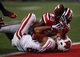 Sep 28, 2013; Columbus, OH, USA; Ohio State Buckeyes defensive back Tyvis Powell (23) knocks the ball away from Wisconsin Badgers wide receiver Alex Erickson (86) during the fourth quarter at Ohio Stadium. Buckeyes beat the Badgers 31-24. Mandatory Credit: Raj Mehta-USA TODAY Sports