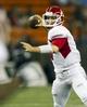 Sep 28, 2013; Honolulu, HI, USA;  Fresno State quarterback Derek Carr (4) makes a pass during the third quarter of the NCAA college football game against Hawaii at Aloha Stadium. Mandatory Credit: Marco Garcia-USA TODAY Sports