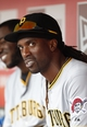Sep 29, 2013; Cincinnati, OH, USA; Pittsburgh Pirates center fielder Andrew McCutchen (22) in the dug out during the ninth inning against the Cincinnati Reds at Great American Ball Park. The Pirates defeated the Reds 4-2. Mandatory Credit: Frank Victores-USA TODAY Sports