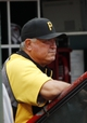 Sep 29, 2013; Cincinnati, OH, USA; Pittsburgh Pirates manager Clint Hurdle (13) in the dugout during the third inning against the Cincinnati Reds at Great American Ball Park. Mandatory Credit: Frank Victores-USA TODAY Sports