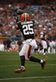 Sep 29, 2013; Cleveland, OH, USA; Cleveland Browns running back Chris Ogbonnaya (25) makes a touchdown catch during the fourth quarter against the Cincinnati Bengals at FirstEnergy Stadium. Browns beat the Bengals 17-6. Mandatory Credit: Raj Mehta-USA TODAY Sports