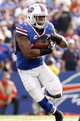 Sep 29, 2013; Orchard Park, NY, USA; Buffalo Bills running back Fred Jackson (22) runs with the ball against the Baltimore Ravens during the second half at Ralph Wilson Stadium. Bills beat the Ravens 23-20. Mandatory Credit: Kevin Hoffman-USA TODAY Sports
