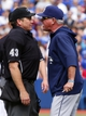 Sep 29, 2013; Toronto, Ontario, CAN; Tampa Bay Rays manager Joe Maddon argues with home plate umpire Paul Schrieber in the seventh inning against the Toronto Blue Jays at Rogers Centre. Tampa defeated Toronto 7-6. Mandatory Credit: John E. Sokolowski-USA TODAY Sports
