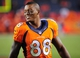 Sep 23, 2013; Denver, CO, USA; Denver Broncos wide receiver Demaryius Thomas (88) after the game against the Oakland Raiders at Sports Authority Field at Mile High.  The Broncos won 37-21. Mandatory Credit: Chris Humphreys-USA TODAY Sports