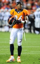 Sep 23, 2013; Denver, CO, USA; Denver Broncos safety Rahim Moore (26) during the game against the Oakland Raiders at Sports Authority Field at Mile High. Mandatory Credit: Chris Humphreys-USA TODAY Sports