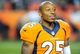 Sep 23, 2013; Denver, CO, USA; Denver Broncos cornerback Chris Harris (25) after the game against the Oakland Raiders at Sports Authority Field at Mile High.  The Broncos won 37-21. Mandatory Credit: Chris Humphreys-USA TODAY Sports
