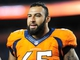 Sep 23, 2013; Denver, CO, USA; Denver Broncos guard Louis Vasquez (65) after the game against the Oakland Raiders at Sports Authority Field at Mile High.  The Broncos won 37-21. Mandatory Credit: Chris Humphreys-USA TODAY Sports
