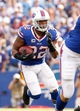 Sep 29, 2013; Orchard Park, NY, USA; Buffalo Bills running back Fred Jackson (22) during the game against the Baltimore Ravens at Ralph Wilson Stadium. Bills beat the Ravens 23-20. Mandatory Credit: Kevin Hoffman-USA TODAY Sports