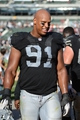 September 29, 2013; Oakland, CA, USA; Oakland Raiders defensive end Jack Crawford (91) walks off the field after the game against the Washington Redskins at O.co Coliseum. The Redskins defeated the Raiders 24-14. Mandatory Credit: Kyle Terada-USA TODAY Sports