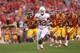 Oct 3, 2013; Ames, IA, USA; Iowa State Cyclones safety Deon Broomfield (26) and cornerback Jansen Watson (2) chase Texas Longhorn running back Johnathan Gray (32) into the end zone at Jack Trice Stadium. Mandatory Credit: Reese Strickland-USA TODAY Sports