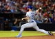 Oct 4, 2013; Atlanta, GA, USA; Los Angeles Dodgers relief pitcher Brian Wilson (00) throws against the Atlanta Braves during the eighth inning of game two of the National League divisional series playoff baseball game at Turner Field. Mandatory Credit: Daniel Shirey-USA TODAY Sports