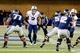 Oct 4, 2013; Logan, UT, USA; Brigham Young Cougars linebacker Kyle Van Noy (3) watches Utah State Aggies quarterback Craig Harrison (12) during the second half at Romney Stadium. BYU won 31-14. Mandatory Credit: Chris Nicoll-USA TODAY Sports