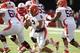 Oct 5, 2013; Lincoln, NE, USA; Illinois Fighting Illini quarterback Nathan Scheelhaase (2) runs against the Nebraska Cornhuskers during the first quarter at Memorial Stadium. Mandatory Credit: Bruce Thorson-USA TODAY Sports