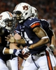 Oct 5, 2013; Auburn, AL, USA; Auburn Tigers quarterback Nick Marshall (14) celebrates his touchdown in the second quarter against the Mississippi Rebels at Jordan Hare Stadium. Mandatory Credit: Shanna Lockwood-USA TODAY Sports