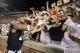 Oct 5, 2013; Auburn, AL, USA; Auburn Tigers quarterback Nick Marshall (14) celebrates with fans after the Tigers beat the Mississippi Rebels 30-22 at Jordan Hare Stadium. Mandatory Credit: John Reed-USA TODAY Sports
