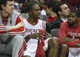 Oct 5, 2013; Houston, TX, USA; Houston Rockets center Dwight Howard (12) sits on the bench during the third quarter against the New Orleans Pelicans at Toyota Center. The Pelicans defeated the Rockets 116-115. Mandatory Credit: Troy Taormina-USA TODAY Sports