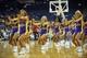 October 5, 2013; Ontario, CA, USA; Los Angeles Lakers girls dancers perform during the first half at Citizens Business Bank Arena. Mandatory Credit: Gary A. Vasquez-USA TODAY Sports