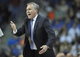 October 5, 2013; Ontario, CA, USA; Los Angeles Lakers head coach Mike D'Antoni reacts to a call during the first half at Citizens Business Bank Arena. Mandatory Credit: Gary A. Vasquez-USA TODAY Sports