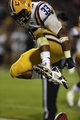 Oct 5, 2013; Starkville, MS, USA; LSU Tigers running back Jeremy Hill (33) celebrates after scoring a touchdown during the game against the Mississippi State Bulldogs at Davis Wade Stadium.  LSU Tigers defeated the Mississippi State Bulldogs 59-26.  Mandatory Credit: Spruce Derden-USA TODAY Sports