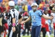 Oct 6, 2013; Nashville, TN, USA; Tennessee Titans kicker Rob Bironas (2) questions a call with an official in a game against the Kansas City Chiefs during the second half at LP Field. The Chiefs beat the Titans 26-17. Mandatory Credit: Don McPeak-USA TODAY Sports