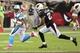 Oct 6, 2013; Phoenix, AZ, USA; Carolina Panthers wide receiver Steve Smith (89) runs with the ball as Arizona Cardinals cornerback Patrick Peterson (21) pursues during the second half at University of Phoenix Stadium. Mandatory Credit: Matt Kartozian-USA TODAY Sports
