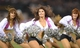 Oct 6, 2013; Oakland, CA, USA; Oakland Raiders cheerleaders perform in pink vests to recognize breast cancer awareness month before the game against the San Diego Chargers at O.co Coliseum. Mandatory Credit: Kirby Lee-USA TODAY Sports