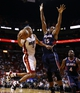 Oct 7, 2013; Miami, FL, USA; Miami Heat small forward Shane Battier (31) is defended by Atlanta Hawks power forward Al Horford (15) in the second half at American Airlines Arena. Mandatory Credit: Robert Mayer-USA TODAY Sports