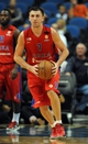 Oct 7, 2013; Minneapolis, MN, USA;  CSKA Moscow guard Vitaly Fridzon (7) looks to pass the ball up court in the first half against the Minnesota Timberwolves at Target Center.  CSKA Moscow defeated the Minnesota Timberwolves 108-106 in overtime.  Mandatory Credit: Marilyn Indahl-USA TODAY Sports